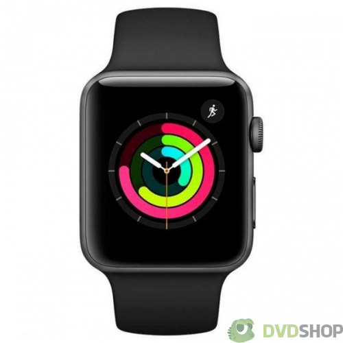 Смарт-часы Apple Watch Series 3 GPS 42mm Space Grey Aluminium Case with Black Sport Band (MTF32FS/A)