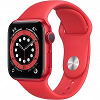 Смарт-часы Apple Watch Series 6 GPS, 40mm PRODUCT(RED) Aluminium Ca (M00A3UL/A)