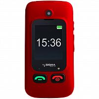Мобильный телефон Sigma Mobile Comfort 50 Shell Duo Black-Red