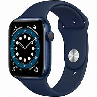 Смарт-часы Apple Watch Series 6 GPS, 44mm Blue Aluminium Case with (M00J3UL/A)
