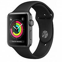 Смарт-часы Apple Watch Series 3 GPS, 38mm Space Grey Aluminium Case (MTF02FS/A)
