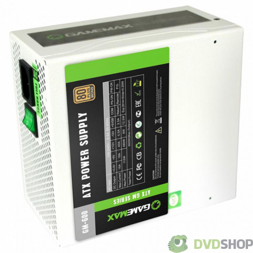 блок питания GAMEMAX 600W (GM-600-WHITE) фото 3