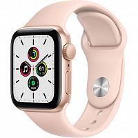 Смарт-часы Apple Watch SE GPS, 44mm Gold Aluminium Case with Pink S (MYDR2UL/A)