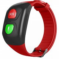 Смарт-часы GoGPS М03 кнопка SOS  black/red (M03BKRD)